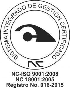 NC ISO 9001:2015 regulations.