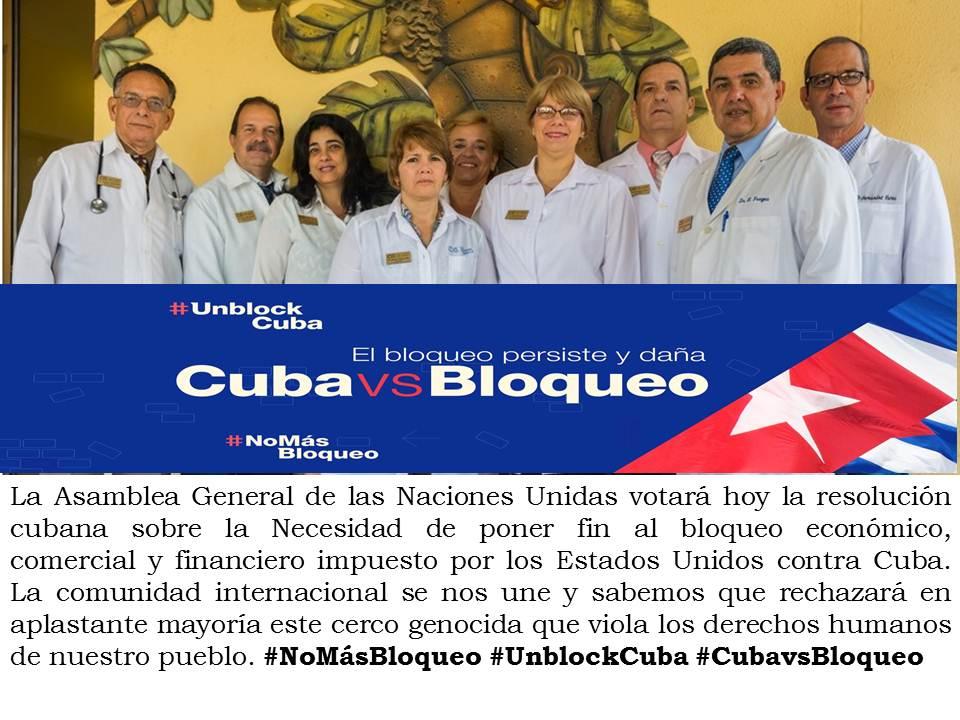 Nuestra Clínica, como toda Cuba, contra el Bloqueo